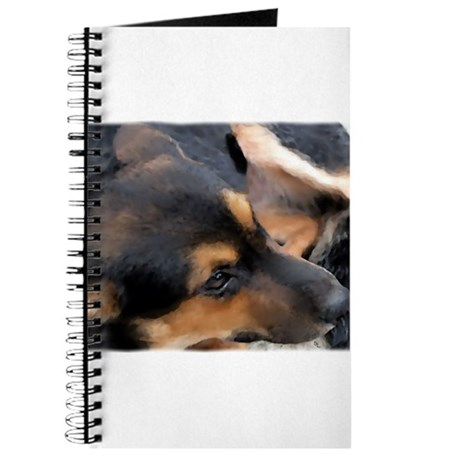 Curled Up Cattle Dog Journal