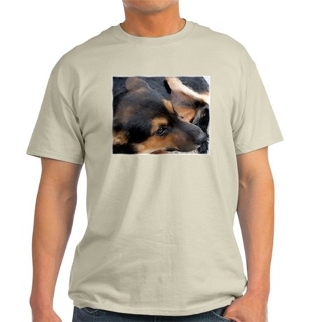 Curled Up Cattle Dog Ash Grey T-Shirt