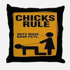 ChicksRule Throw Pillow