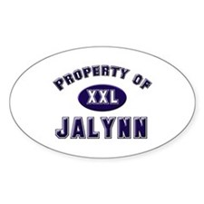 Property of jalynn Oval Decal