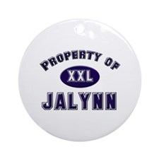 Property of jalynn Ornament (Round)