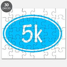 Sky Blue 5k Oval Puzzle