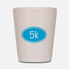 Sky Blue 5k Oval Shot Glass