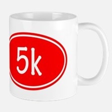 Red 5k Oval Mugs