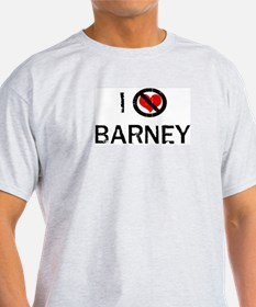 I Hate BARNEY Ash Grey T-Shirt