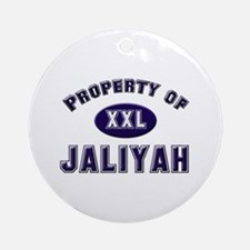 Property of jaliyah Ornament (Round)