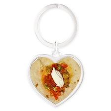 burrito Heart Keychain