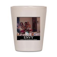 DeMotivational - Envy in the Hallway Shot Glass