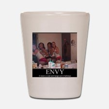 DeMotivational - Envy in the Hallway Shot Glass