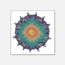 """Pointy Lace sun Square Sticker 3"""" x 3"""""""