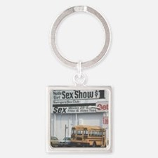 DeMotivational - Sex Show Bus Square Keychain