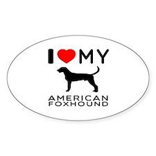 I Love My American Foxhound Decal