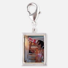 Late Night Thirst Size Silver Portrait Charm