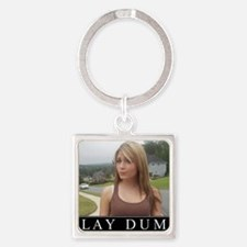 DeMotivational - Play Dumb Square Keychain