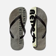 Retired Under New Management Flip Flops