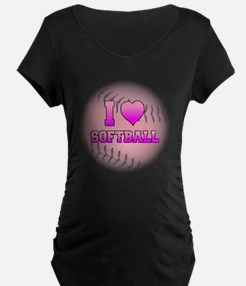 I Heart Softball T-Shirt