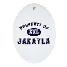 Property of jakayla Oval Ornament