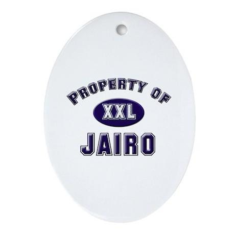 Property of jairo Oval Ornament