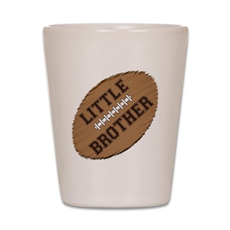 little brother football2 Shot Glass