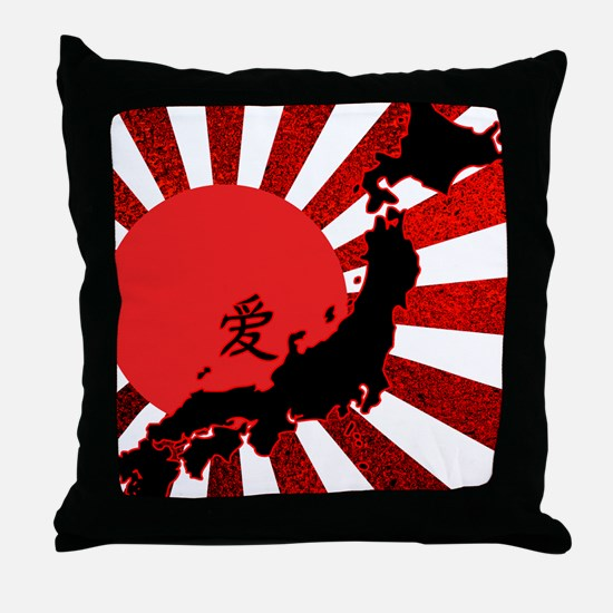 HopeforJapanRwsW Throw Pillow