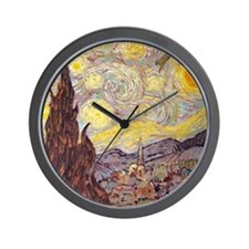 Vincent in Starry Night Wall Clock