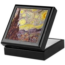 Vincent in Starry Night Keepsake Box