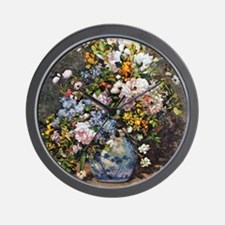 Bouquet of Spring Flowers Wall Clock