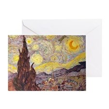 Vincent in Starry Night Greeting Card