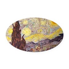 Vincent in Starry Night Oval Car Magnet
