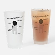 Whats in a Newf - Landseer Drinking Glass