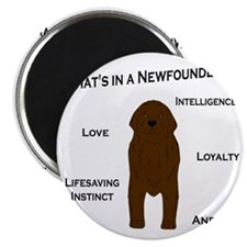 Whats in a Newf - Brown Magnet