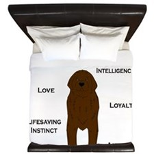 Whats in a Newf - Brown King Duvet