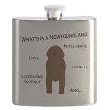 Whats in a Newf - Brown Flask