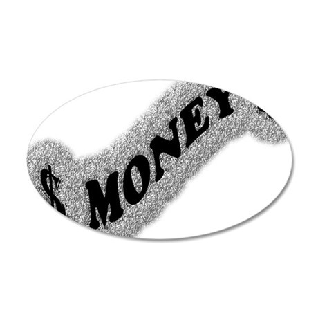 $-MONEY-SIGN2 35x21 Oval Wall Decal
