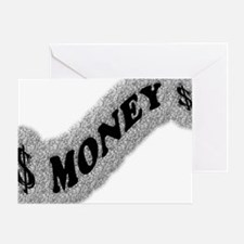 $-MONEY-SIGN2 Greeting Card