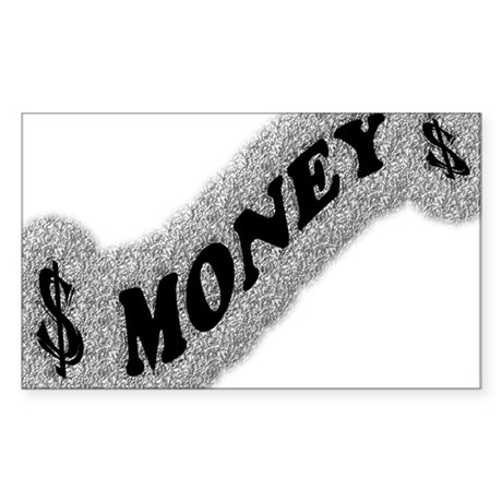 $-MONEY-SIGN2 Sticker (Rectangle)