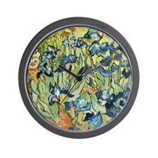 Vincents in the Irises Wall Clock