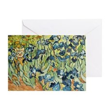 Vincents in the Irises Greeting Card