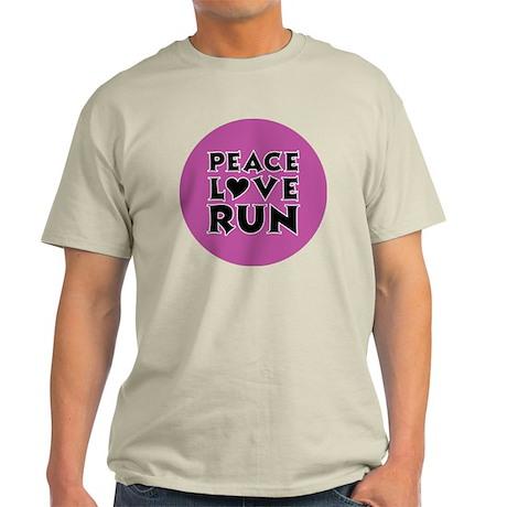 peace love run Light T-Shirt