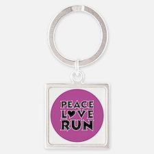 peace love run Square Keychain
