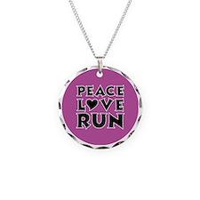 peace love run Necklace