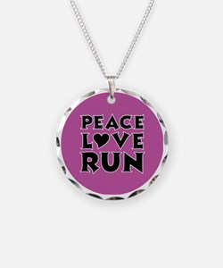 peace love run Necklace