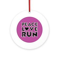 peace love run Round Ornament