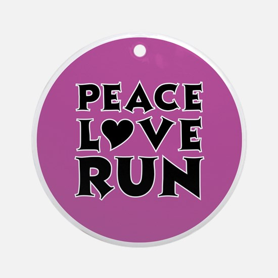 peace love run Round Ornament