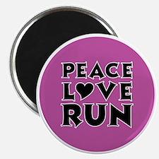peace love run Magnet