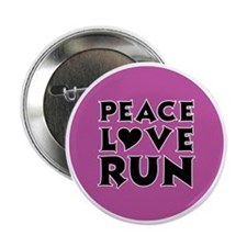 "peace love run 2.25"" Button"