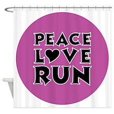 peace love run Shower Curtain