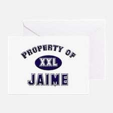 Property of jaime Greeting Cards (Pk of 10)