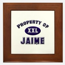 Property of jaime Framed Tile