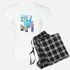 Blue Glass Dreidel-Happy Hanukkah Pajamas